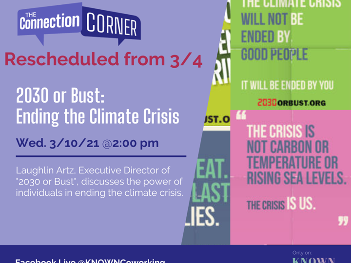 CC: 2030 or Bust: Ending the Climate Crisis
